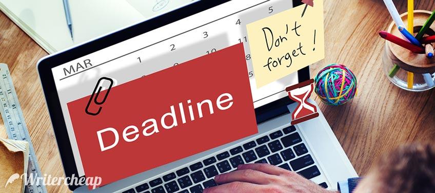Student Deadline