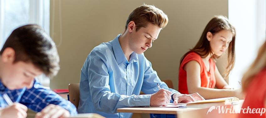 Student On Exam