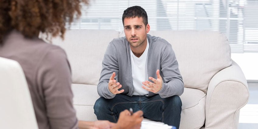 Visiting a therapist